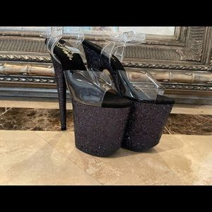 New 8 inch Pleaser Glitter Heels